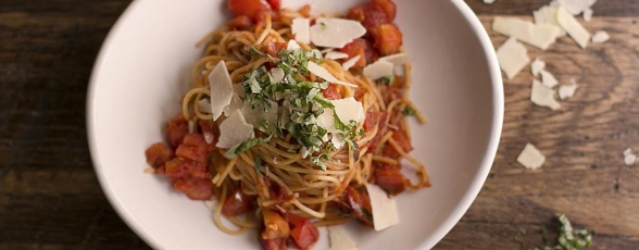 photo of spaghetti